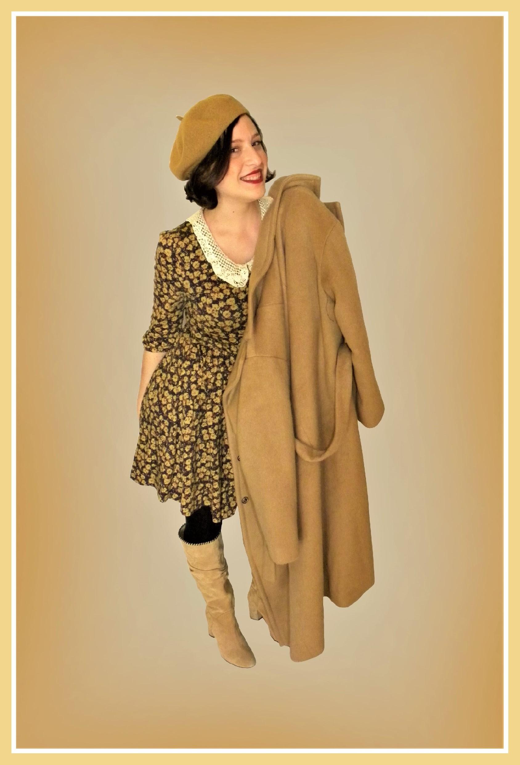 vestito-fiori-cappotto-cammello