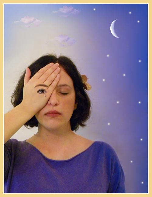 Rafal Olbinski quadro occhio lacrima