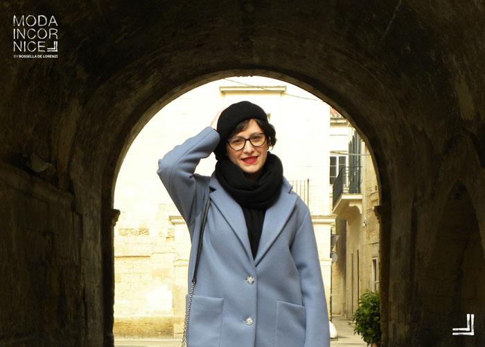 Look cappotto celeste