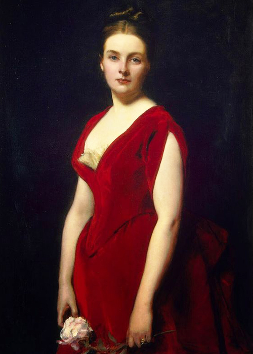 Carolos Duran red dress