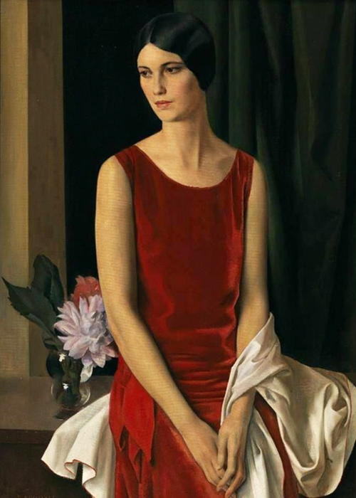 Louis Buisseret red dress