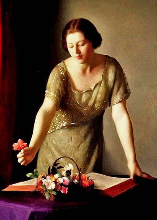 William McGregor Paxton golden dress