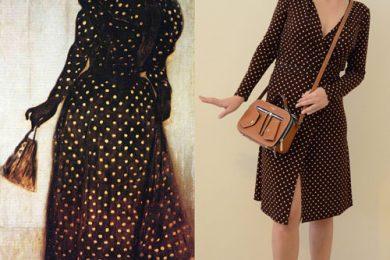 Woman-Dressed-in-Polka-Dot-Dress-by-József-Rippl-Rónai