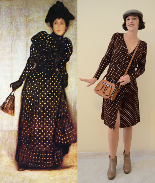 Woman-Dressed-in-Polka-Dot-Dress-by-József-Rippl-Rónai