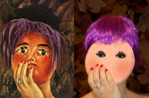 La maschera Frida Kahlo quadro