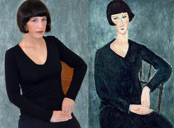 Modigliani Giovane donna con frangia