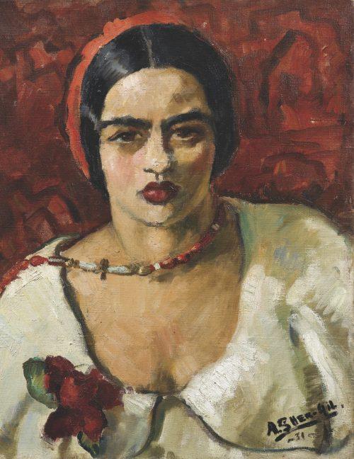 Amrita Sher-Gil autoritratto quadro