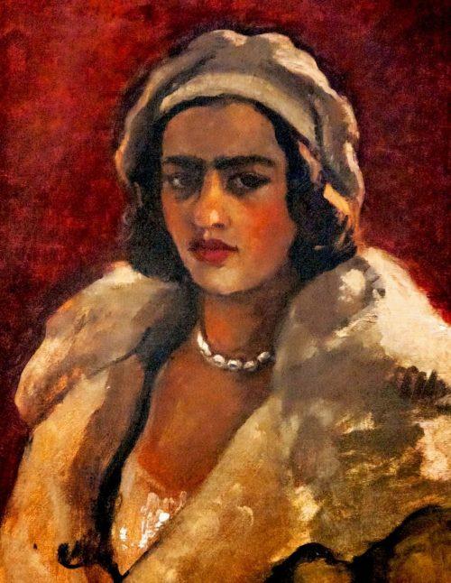 Amrita Sher-Gil autoritratto basco bianco