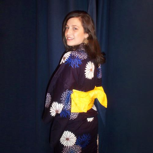 Kimono giapponese blu