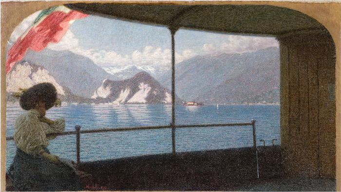 Angelo Morbelli, Battello sul Lago Maggiore, 1915.