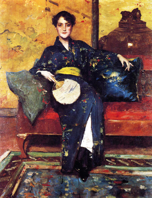William Merritt Chase Kimono blu