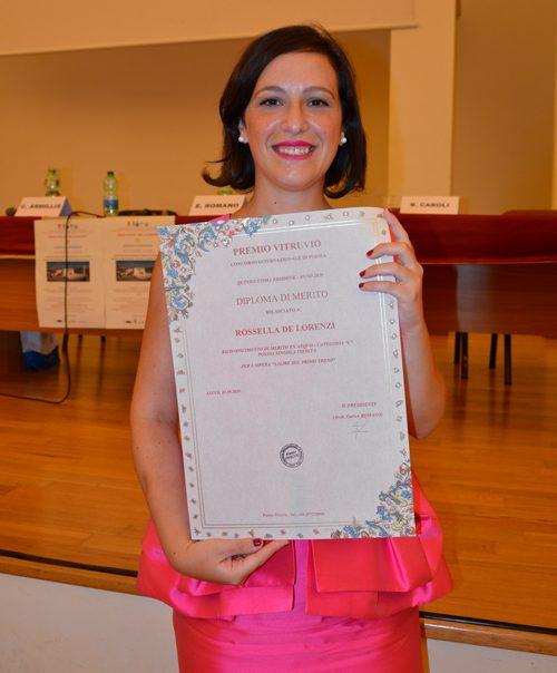 Premio Vitruvio 2020 Lecce Rossella De Lorenzi